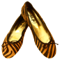 Preview: Tiger-Look Ballerinas Amur by Petruska - Fell Damenschuhe in Cognac