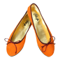 Preview: Orange Ballerinas aus Wildleder -  Ballerinas Delhi by Petruska - Damen-Ballerina-schuhe in Orange