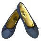 Preview: Blaue Ballerinas Key West by Petruska - Schlangeleder Damenschuhe in Blau