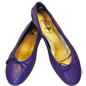 Preview: Blaue Ballerinas Nice by Petruska - Nappaleder Damen-Ballerina-Schuhe in Blau