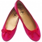 Preview: Ballerinas NeonPink-Rot aus Nappaleder by Petruska
