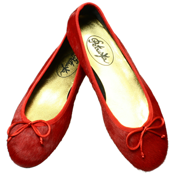 Rote Ballerinas Miramichi by Petruska - Fell Damenschuhe in Rot
