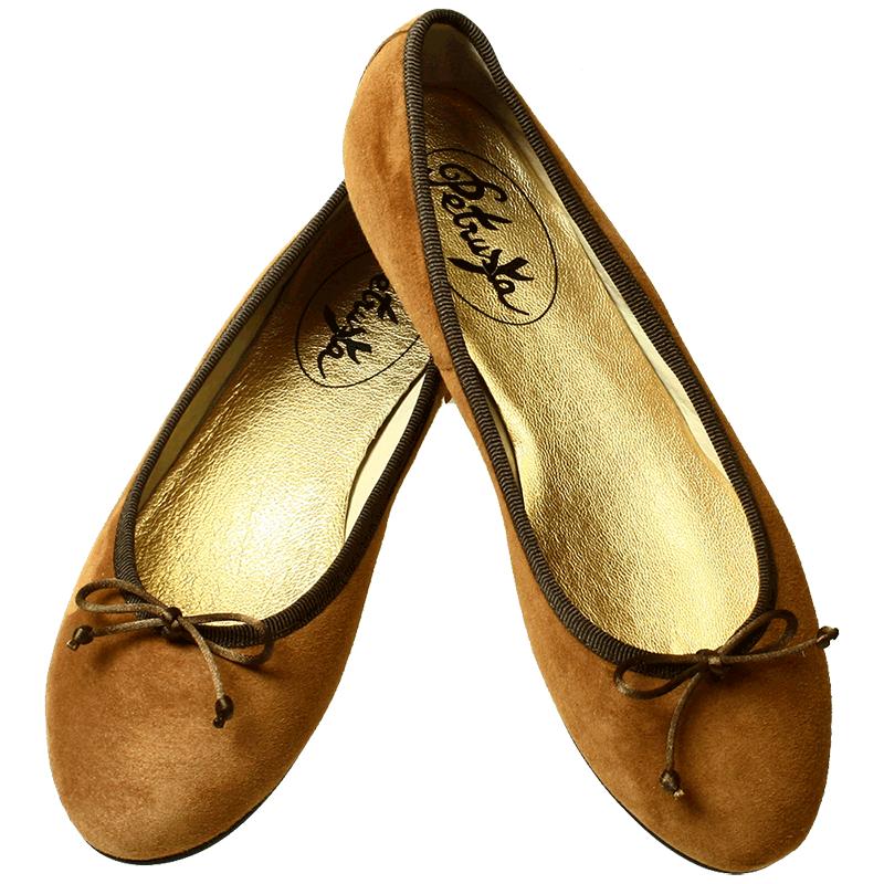 Klassische Damen Ballerinas Leder-Optik Schuhe Flats Slippers 820551 Top