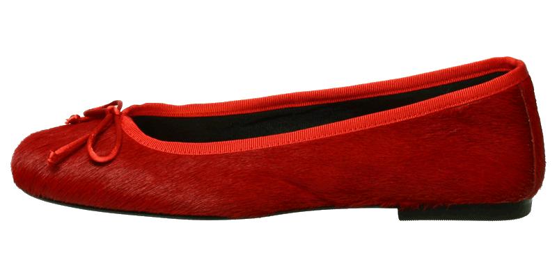 0735f928ac320 Damenschuhe Rot-Leder Ballerinas Fell online bestellen und kaufen!