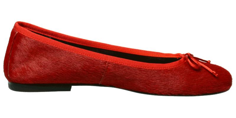8dbd84e7fe215 Fellballerinas in Rot - Ballerinas Schuhe Miramichi by Petruska - Fell  Damenschuhe