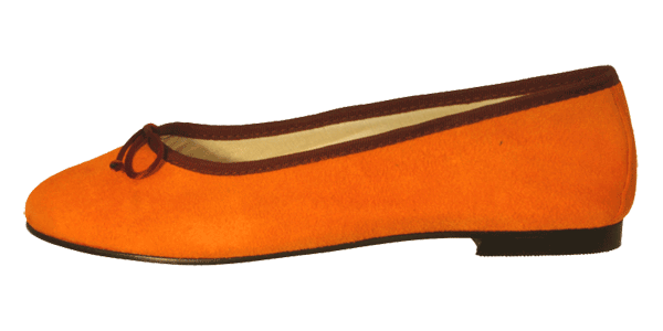 Leder Ballerinas Orange Delhi by Petruska - Wildleder Ballerina Slipper in Orange