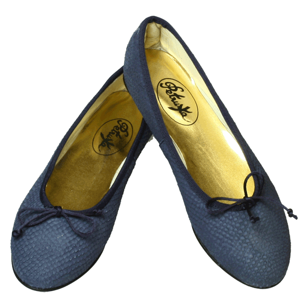 Blaue Ballerinas Key West by Petruska - Schlangeleder Damenschuhe in Blau
