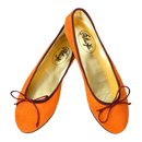 Orange Ballerinas aus Wildleder -  Ballerinas Delhi by Petruska - Damen-Ballerina-schuhe in Orange